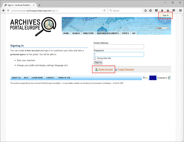 Using My Pages - Archives Portal Europe Wiki